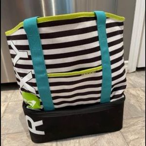 Beach bag with built in cooler